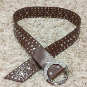 Brown Leather Belt.